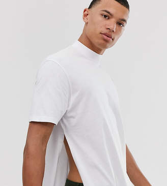 Asos Design DESIGN Tall relaxed longline t-shirt with side splits in white