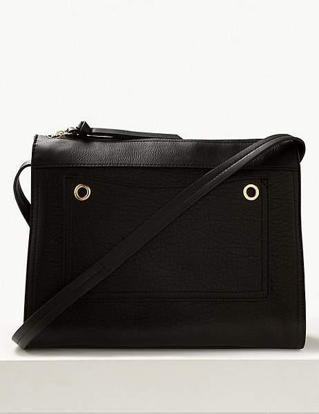 0527de89667 Faux Leather Messenger - ShopStyle
