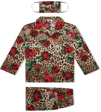 Dolce & Gabbana Kids Leopard Print Pajamas