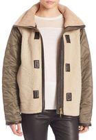Rag & Bone Elson Leather-Trim Shearling Jacket