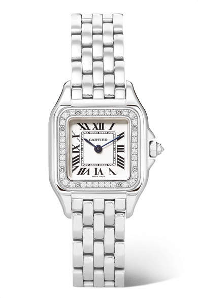 Cartier Panthère De 22mm Small Stainless Steel And Diamond Watch - Silver
