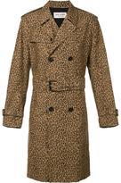 Saint Laurent leopard print trench coat