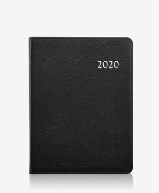 GiGi New York 2020 Desk Planner, Black Goatskin Leather