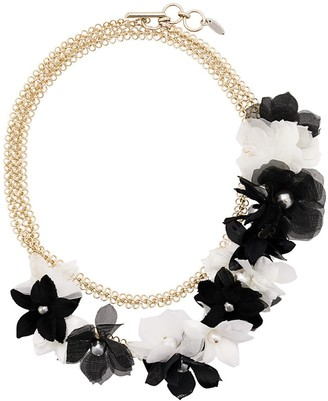 Lanvin Flower Embellished Necklace