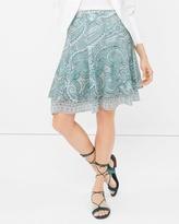 White House Black Market Paisley Print Flirty Skirt