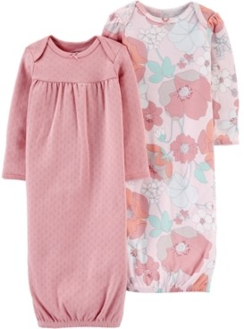 Carter's Baby Girls 2-Pack Printed Cotton Sleeper Gowns