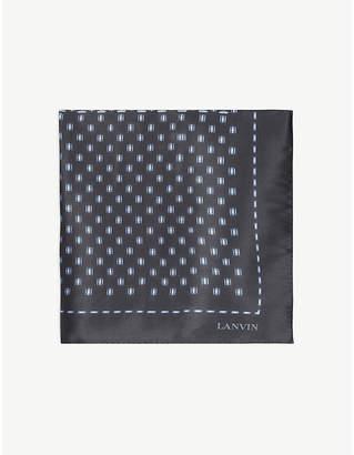 Lanvin Silk tie and pocket square set