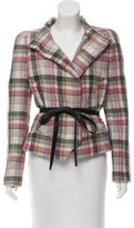 Isabel Marant Linen & Wool-Blend Plaid Jacket w/ Tags