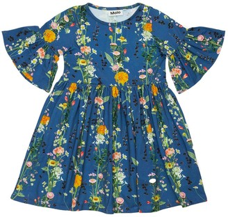 Molo Flower Print Organic Cotton Dress