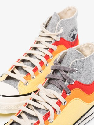 Converse Grey And Orange Chuck 70 Hi Nor'Easter Sneakers