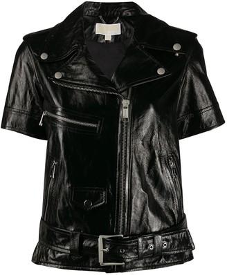 MICHAEL Michael Kors Short Sleeve Moto Jacket