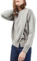Topshop Women's D-Ring Wrap Sweater
