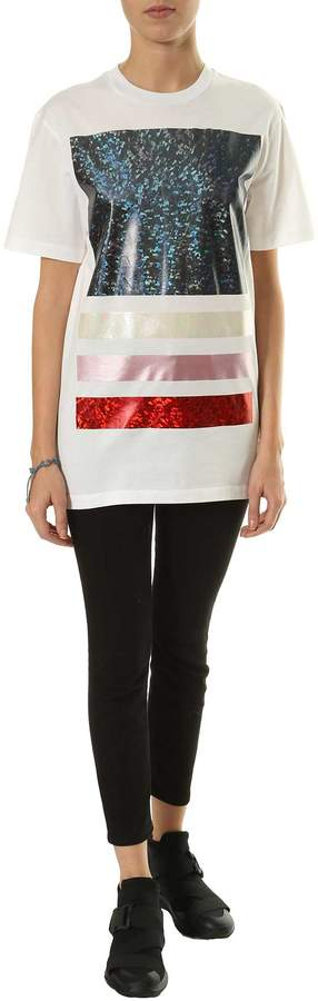Christopher Kane Metallic Print T-shirt