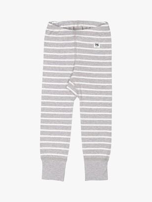 Polarn O. Pyret Baby GOTS Organic Cotton Stripe Leggings, Grey