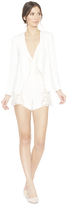 Alice + Olivia Jenice Embroidered Side Combo Blazer