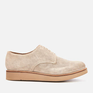 Grenson Men's Curt Suede Derby Shoes - Maple