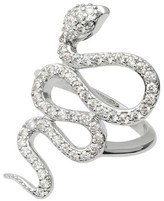 Journee Collection 1 7/8 CT. T.W. Round-cut Cubic Zirconia Snake Pave Set Ring in Sterling Silver - Silver