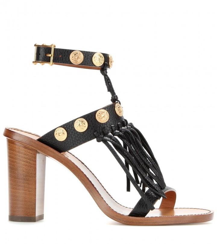 Valentino C-Rockee fringed leather sandals