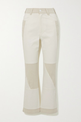 See by Chloe Two-tone High-rise Flared Jeans - Off-white