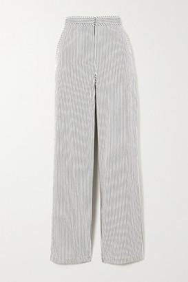 Proenza Schouler White Label Striped Crepe Wide-leg Pants - US0