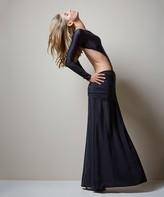 Vix Paula Hermanny Solid Black Long Skirt