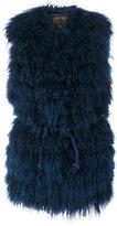 Alessandra Chamonix furry gilet coat