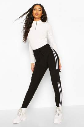 boohoo Cargo Pant With Side Stripe And Pocket