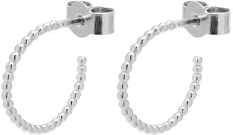 Myia Bonner Silver Mini Sphere Hoop Earrings