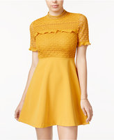 XOXO Juniors' Mock-Neck Fit & Flare Dress