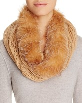 Surell Infinity Loop Scarf with Fox Fur Trim
