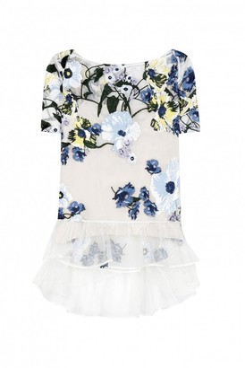 Erdem Ecru Silk Top for Women