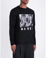 Mcq Alexander Mcqueen Lace-overlay Cotton-jersey Sweatshirt