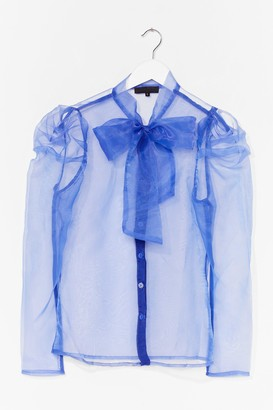 Nasty Gal Womens Bow 'Em How It's Done Organza Blouse - Purple - S, Purple