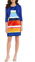 Jessica Howard Multi-Striped Shift Dress