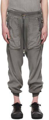 Boris Bidjan Saberi Grey Resin-Dyed Long John Lounge Pants