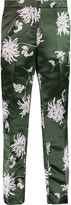 Rochas Printed satin straight-leg pants
