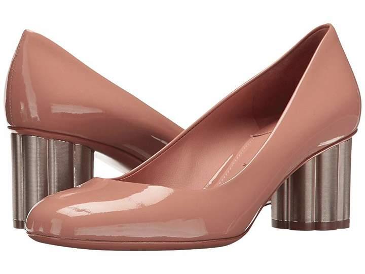Salvatore Ferragamo Patent Leather Mid-Heel Pump