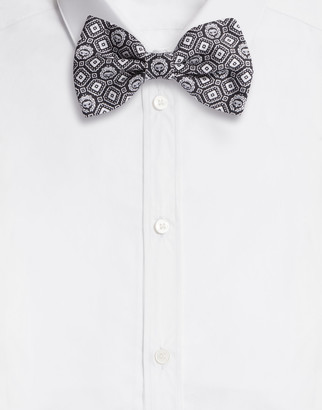 Dolce & Gabbana Diamond-Design Silk Jacquard Bow Tie