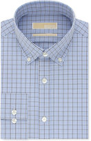 MICHAEL Michael Kors Men's Big & Tall Classic/Regular Fit Non-Iron Blue Check Dress Shirt