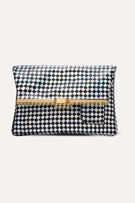 Bienen Davis Bienen-Davis - Pm Iridescent Leather Clutch - Silver