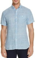 Todd Snyder Linen Glen Plaid Regular Fit Button-Down Shirt