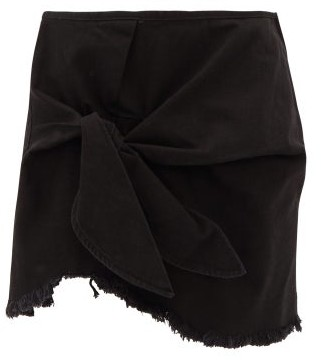 Marques Almeida Knotted Denim Mini Skirt - Black