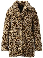 Oakwood User Leopard Teddy Coat - Small
