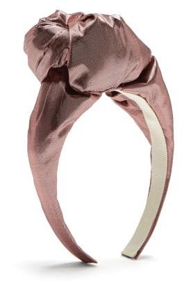 Benoit Missolin Gisele Metallic Knotted Headband - Womens - Pink