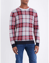 Tommy Hilfiger Penley Checked Brushed Waffle-knit Jumper