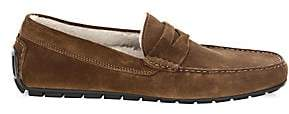To Boot Men's Norse Shearling-Lined Suede Penny Loafers