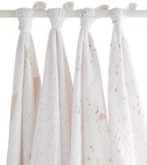 """Aden + Anais Infant Girls Swaddle 4-Pack """"Lovely"""" Print - One Size"""