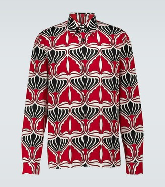 Prada Floral long-sleeved shirt