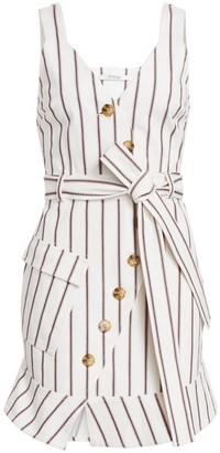 Derek Lam 10 Crosby Striped Stretch Mini Dress
