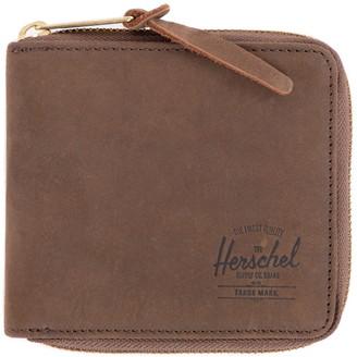 Herschel Leather Bifold Zip Wallet